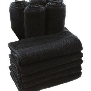 2'li  50x90cm Siyah Kuaför Havlusu  %100 Pamuk - Özel İndantren Boya